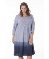 Swing dress Donnar with handmade dip-dye effect, flattering for every body type