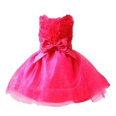 baby girls dress Red Bow infant summer dress for birthday party sleeveless princess floral vestido infantil #>=#>=#>=#>=#> Click on the pin to check out discount price, color, size, shipping, etc. Save and like it!