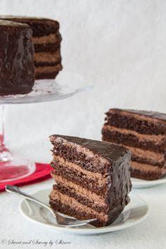 SUPREME CHOCOLATE CAKE WITH CHOCOLATE MOUSSE FILLING #RECETA EN #INGLÉS …