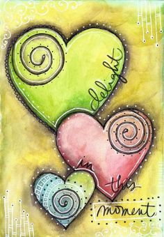 Artist trading cards, art journal inspiration, art journal pages, art journaling Art Journal Pages, Art Journals, Kunstjournal Inspiration, Art Journal Inspiration, Art Doodle, Tableau Pop Art, Art Fantaisiste, Wal Art, Happy Paintings