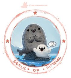 """""""Seals of Approval"""" by Piper Thibodeau (John likes this one so much he's demanding a print. :D)"""