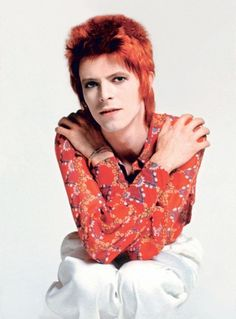 David Bowie in red