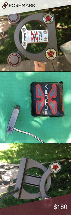 🔥♦️Scotty Cameron Futura Putter♦️🔥 This putter has only been used on the course two or three times. It's in fantastic condition and is like new. Slight impairment on the end of the face as seen in the picture but nothing that will affect your putting. Headcover is included. Let me know if you have any questions! This is a great putter for an even better price. Titleist Other