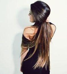 Very long brunette hair