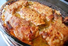 Pork Recipes A tender and tasty meat dish prepared in a casserole dish. Pork Tenderloin Recipes, Pork Recipes, Cooking Recipes, Macedonian Food, Croatian Recipes, Sauce, Food Design, Relleno, Casserole Dishes