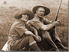 I have seen this picture on many Blixen boards - but it's not Karen Blixen and Denys Finch Hatton - but the American couple and filmmakers Martin and Osa Johnson on safari in Kenya.