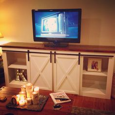 Grandy Console with Barn Doors | Do It Yourself Home Projects from Ana White