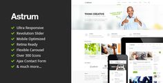 Astrum is the awesome Responsive HTML5 Template created for corporate and portfolio websites – business site needn't be boring! It features a very clean and minimal design that is perfect for s...
