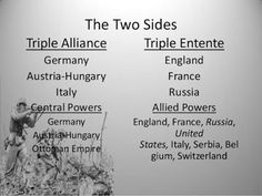 003 These are the four main causes for the start of WW1. The