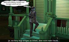 Sims 4 Welt Story - Der nächste Schritt in Strangerville Sims 4 Stories, Garden Sculpture, Lion Sculpture, 4 Story, Statue, Outdoor Decor, World, Sculptures, Sculpture
