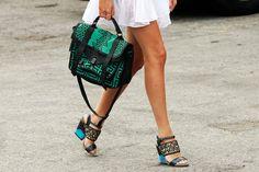 manrepeller. i want to be her. and i DIE for this Proenza bag. (www.manrepeller.com)