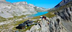 hotel on the pass, reach by lift from Leukerbad Wc Sitz, Switzerland, Places To Visit, Mountains, Nature, Travel, Single Divan Beds, Small Windows, Summer Recipes