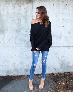 Ticket To Cozy Sweater - Black