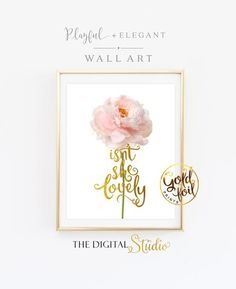 Isn't She Lovely Wall Print