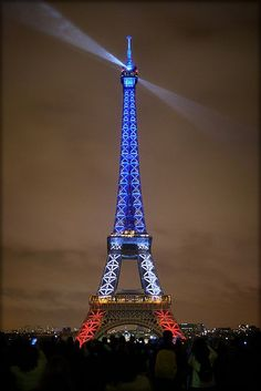 Liberty, Equality, Fraternity! Illuminations - Eiffel Tower