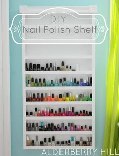DIY:: Nail Polish Shelf (My Dream Nail Polish Shelf !!!)