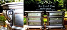 Antiqued Silver Nightstands