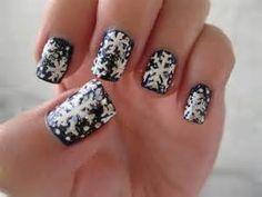 uñas decoradas con nieve