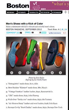 Boston Magazine mens shoes styled by Liz Teich