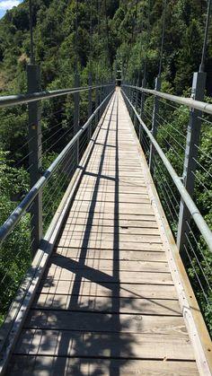 Hanging bridge Switzerland hiking