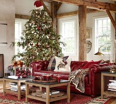 Nothing Says Christmas Like Red Leather