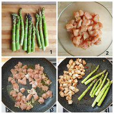 Piept de pui tras la tigaie cu sparanghel – Delicii la indemana Asparagus, Smoothie, Vegetables, Food, Studs, Essen, Smoothies, Vegetable Recipes, Meals