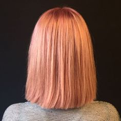 The Classic Bob Meets Rose Gold