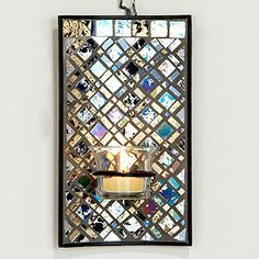 mosaic scones | Gold & Silver Mosaic Sconce | Wall Art and Decor| Home Decor | World M ...