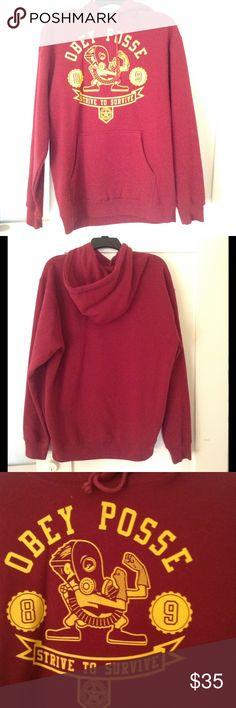 OBEY HOODIE SWEATSHIRT Warm fleece lining, 80% Cotton. Obey Jackets & Coats Bomber & Varsity