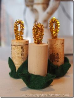 #NUO2012 Recycled Cork Candle Ornaments @mvemother