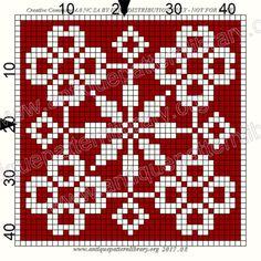 ru / Фото - Le Filet Ancien au Point de Reprise I - gabbach Beaded Cross Stitch, Crochet Cross, Crochet Chart, Counted Cross Stitch Patterns, Filet Crochet, Cross Stitch Designs, Blackwork, Square Patterns, Tapestry Crochet
