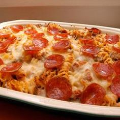 4-Ingredient Pizza Bake on BigOven: A fast and easy casserole