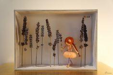 Figurine feutrée fée Danslecadrede 3D lavandeaiguilles par DORIMU