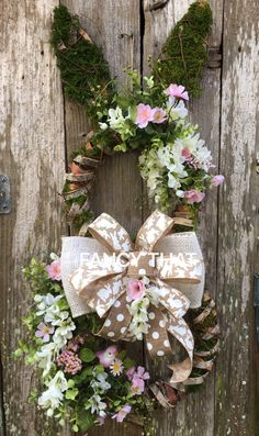 A personal favorite from my Etsy shop https://www.etsy.com/listing/487765230/easter-bunny-wreath-easter-grapevine