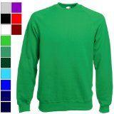 Fruit of the Loom SkateSlime Raglan Sweatshirt Black Medium (38-40¨) Plain Un-Branded 70% Cotton amp