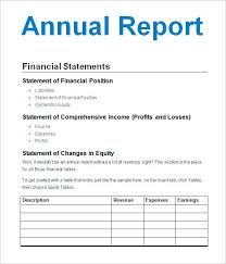 Image Result For Simple Annual Report Sample Statement Template