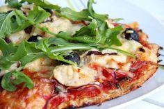 Thunfischboden Pizza mit Chicken à la Surf 'n' Turf