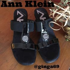 Ann Klein sport low wedge sandals  Ann Klein low wedge sandals gently used super comfey  Ann Klein Shoes Sandals