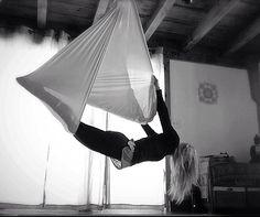 Aerial Silk - Aerial Sling #aerialyoga #karlenemurphy #kamafitness