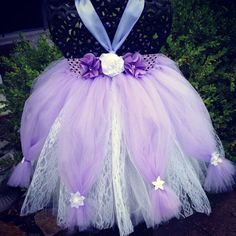Lavender & White Princess Couture/Great for by princesstutus2010, $50.00