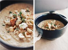 Sprouted Kitchen's Caramelized Cauliflower Soup-7 Points+ ..  If using cheese, make sure it is vegan cheese.