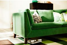 Green Velvet Sofas | House  Home | Ikea Stockholm collection