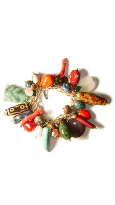 Multi Stone and Coral Mix Bracelet.