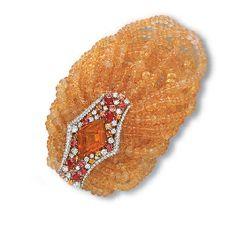 AN OPAL, MULTI-COLOURED SAPPHIRE AND DIAMOND BRACELET, BY SCAVIA