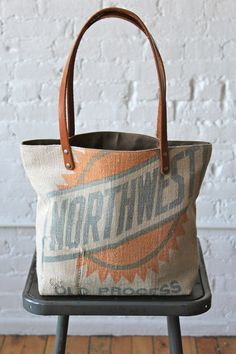 1930's era Feed Sack Tote Bag