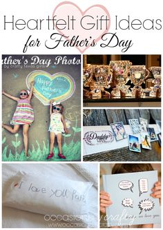 Heartfelt Father's Day Gift Ideas from Occasionally Crafty