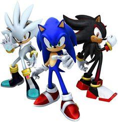 Sonic the hedgehog 2006 Sonic, Shadow und Silver