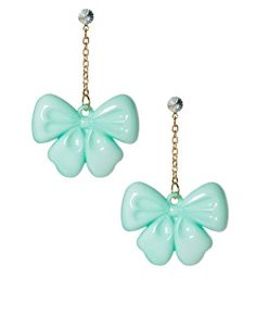 ASOS : Limited Edition Bow Door Knocker Earrings $13.26