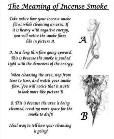How incense burns : The style of smoke does matter.