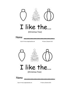 Emergent Reader: I Like The...(Christmas Tree) from Dr. Clements' Kindergarten on TeachersNotebook.com -  (9 pages)  - Emergent Reader: I Like The...(Christmas Tree) - Great for Guided Reading